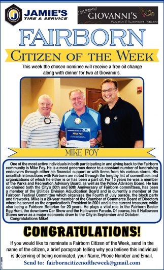 Mike Foy - Citizen of the Week
