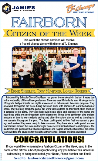 Ernie Sheeler - Citizen of the Week