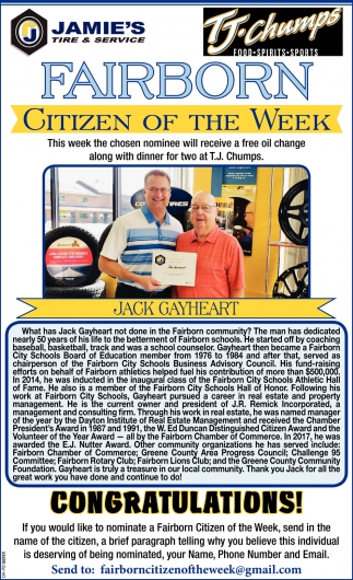Jack Gayheart - Citizen of the Week